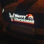 PKW_Kuehlergrill_Merry_Christmas_Logo_Emblem_beleuchtbar_3